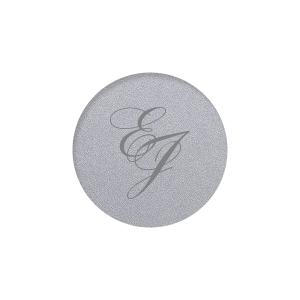 Our custom Classic Crest White Round Label with Matte Slate Gray Ink Digital Print Colors will make your guests swoon. Personalize your party's theme today with this Romantic Monogram.