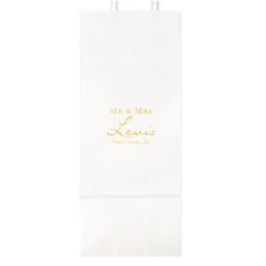 The ever-popular Shiny 18 Kt Gold Small Cellophane Bag with Shiny 18 Kt Gold Foil can be customized to complement every last detail of your party.