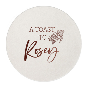 Personalized White Square Coaster with Shiny Fuchsia Foil has a Peony Accent graphic and is good for use in Floral, Accents themed parties and will look fabulous with your unique touch. Your guests will agree!
