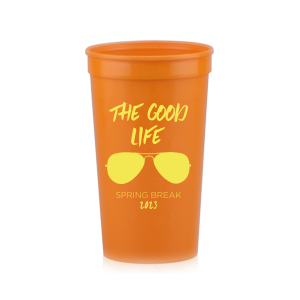 ForYourParty's personalized Hot Pink 16 oz Stadium Cup with Matte Mimosa Yellow Ink Cup Ink Colors has a Ray graphic and is good for use in Beach/Nautical, Spring Break themed parties and couldn't be more perfect. It's time to show off your impeccable taste.