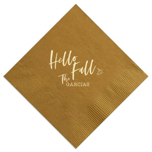 The ever-popular Mustard Gold Cocktail Napkin with Matte Ivory Foil will add that special attention to detail that cannot be overlooked.