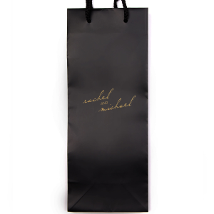 ForYourParty's personalized White Euro Bag with Satin 18 Kt. Gold Foil can be personalized to match your party's exact theme and tempo.