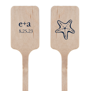 Starfish Initials Stir Stick