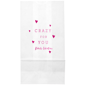 Custom White Party Bag with Shiny Fuchsia Foil can't be beat. Showcase your style in every detail of your party's theme!