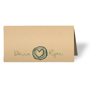 Escort your guests to their seats in style with a personalized place card. Pair the happy couple's names with our Tree Heart graphic for a seamless detail in your forest or greenery wedding theme.