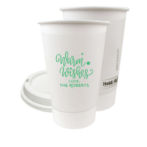 Our beautiful custom Matte Spring Green Ink 8 oz Paper Coffee Cup with Lid with Matte Spring Green Ink Cup Ink Colors has a Warm Wishes graphic and is good for use in Words, Christmas, Holiday themed parties and couldn't be more perfect. It's time to show off your impeccable taste.
