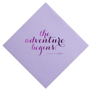 Adventure Begins Napkin