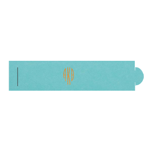 ForYourParty's elegant Poptone Tiffany Blue Napkin Ring with a Shiny Copper Foil Monogram is a must-have for your next event—whatever the celebration!