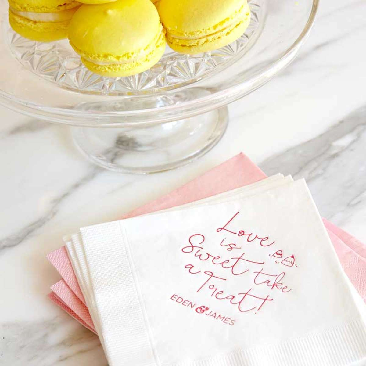 personalized cocktail napkins for weddings birthday parties