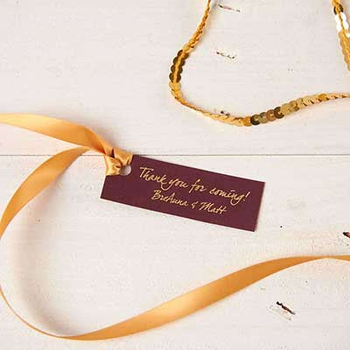 custom rectangle gift tag