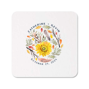 The ever-popular White Photo/Full Color Round Coaster with Matte Navy Ink Digital Print Colors are a must-have for your next event—whatever the celebration!