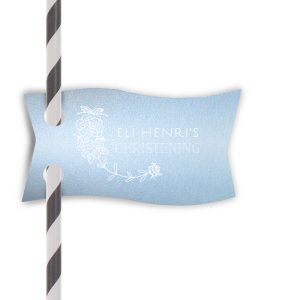 Happy Christening Straw Tag