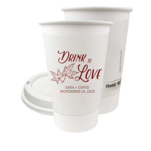 Drink to Love With Leaves Paper Cup