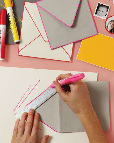 Sharpie envelope Martha Stewart DIY