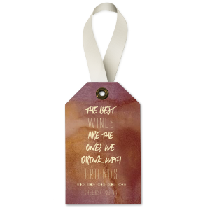 Our custom Watercolor Sangria Wine Hang Tag with Matte Ivory Foil has a Diamond Stripe graphic and is good for use in Wine, Cheese, Aztec, Boho themed parties and will give your party the personalized touch every host desires.