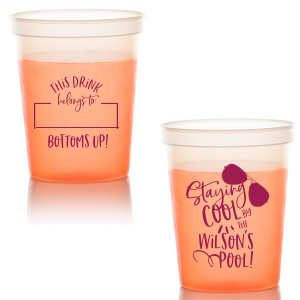 Our beautiful custom Yellow 16 oz Stadium Cup with Matte Dark Magenta Ink Cup Ink Colors has a Ray graphic and is good for use in Fashion, Beach/Nautical themed parties and can be personalized to match your party's exact theme and tempo.