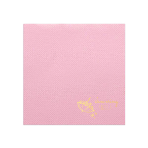 Our custom Pink Linen Like Dinner Napkin with Shiny 18 Kt Gold Foil Color has a Umbrella with Flowers graphic and is good for use in Bridal Shower, Baby Shower themed parties and can't be beat. Showcase your style in every detail of your party's theme!