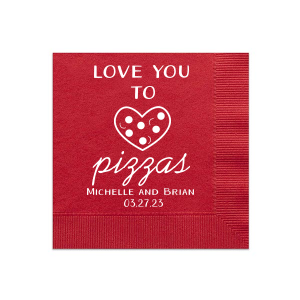 Our personalized Convertible Red Cocktail Napkins with Bleed with Matte White Foil has a Heart Outline graphic and is good for use in Hearts, Wedding themed parties and can't be beat. Showcase your style in every detail of your party's theme!