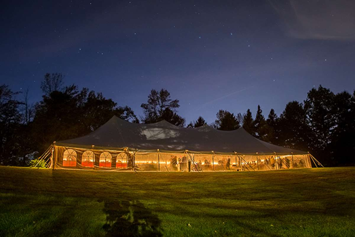 Fall Wedding Tent