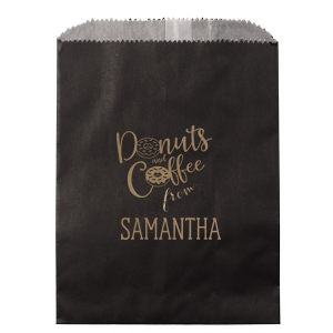 "Donuts and Coffee Bag - Party - Personalized - Set of 75 - 5.75 x 8"""" by ForYourParty.com"