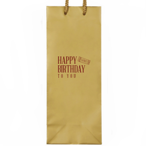 Our beautiful custom Kraft Wine Gift Bag with Matte Merlot Foil Color has a Single Cork graphic and is good for use in Drinks themed parties and couldn't be more perfect. It's time to show off your impeccable taste.