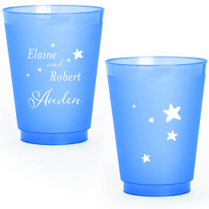 Custom Blue 12 oz Frost Flex Color Cup with Matte White Ink Cup Ink Colors couldn't be more perfect. It's time to show off your impeccable taste.