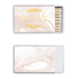 Custom Shiny White 40 Strike Matchbook with Shiny 18 Kt Gold Foil can't be beat. Showcase your style in every detail of your party's theme!