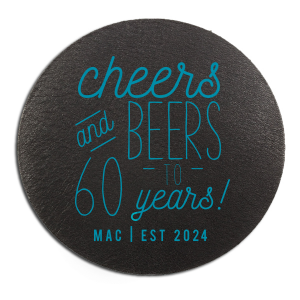 The ever-popular White Square Coaster with Shiny Turquoise Foil will make your guests swoon. Personalize your party's theme today.