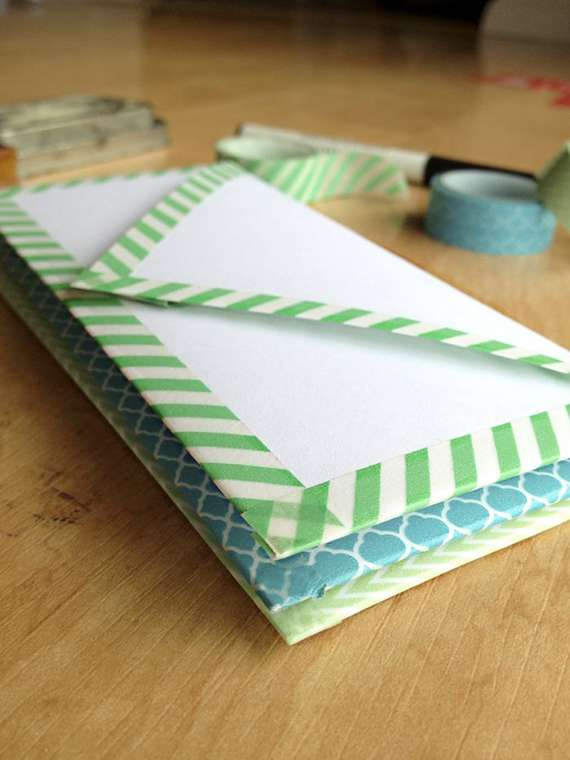Washi Tape envelope DIY