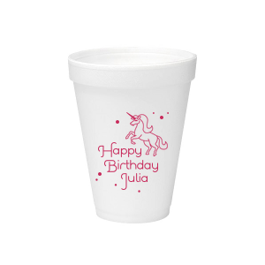 Unicorn Dots Foam Cup