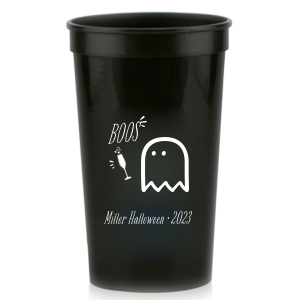 Our personalized Black 16 oz Stadium Cup with Matte White Ink Cup Ink Colors has a Single flute graphic and is good for use in Drinks, Holiday, Wedding themed parties and will add that special attention to detail that cannot be overlooked.