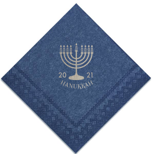 Make your Hanukkah party extra special with this custom Navy napkin. Personalize it with this year and add to any bar, dessert or appetizer table for a detail your guests will love!