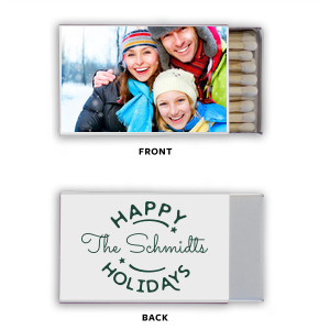 ForYourParty's chic Photo/Full Color Matchbox with Matte Spruce Print Color couldn't be more perfect. It's time to show off your impeccable taste.