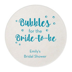 Pour some bubbles for the bride-to-be! Show your best bridal shower hostess skills and customize this unique coaster for a fitting complement to the mimosa bar that both the bride and guests will adore.