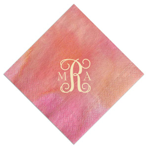 Vines Monogram Napkin