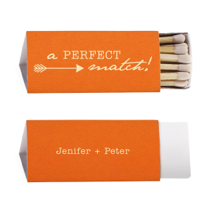 ForYourParty's personalized Poptone Tangerine Lipstick Matchbox with Matte Ivory Foil has a Right Arrow graphic and a Right Arrow graphic and is good for use in Frames themed parties and can't be beat. Showcase your style in every detail of your party's theme!