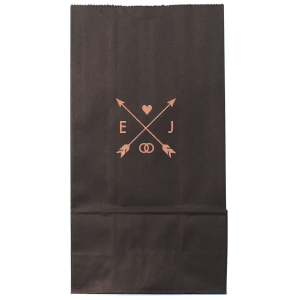 ForYourParty's personalized Shiny Rose Gold Small Cellophane Bag with Shiny Rose Gold Foil has a Cross Arrows 1 graphic and is good for use in Accents, Frames themed parties and will make your guests swoon. Personalize your party's theme today.
