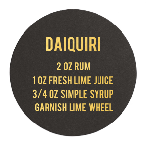 Daiquiri Recipe Coaster