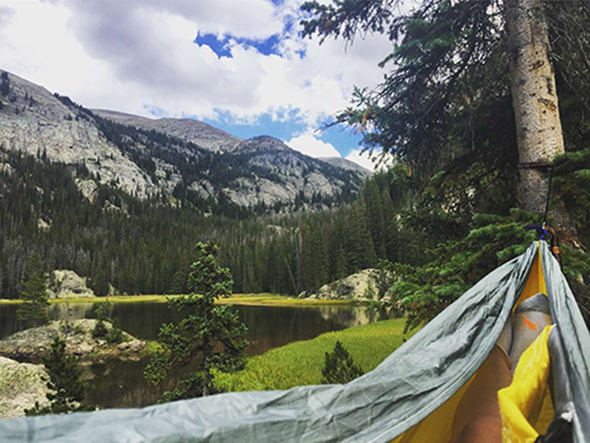 Hammock in the Colorado Mountains