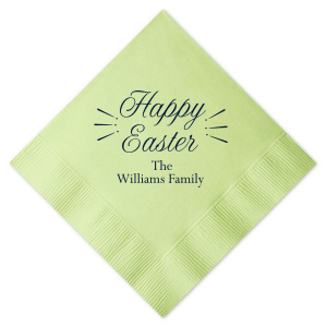 Our custom Honeydew Cocktail Napkin with Matte Navy Foil can be personalized to match your party's exact theme and tempo.