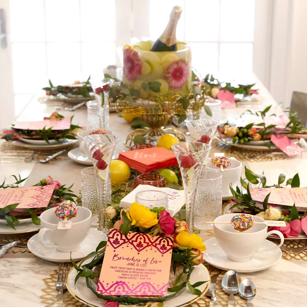 Bright floral bridal shower ideas