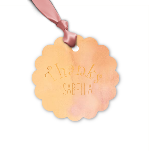 Our beautiful custom Watercolor Sunrise Butterfly Gift Tag with Shiny Copper Foil couldn't be more perfect. It's time to show off your impeccable taste.