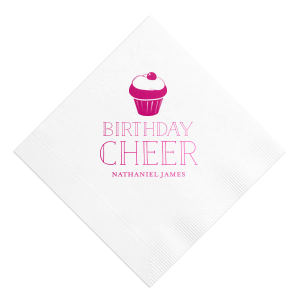 Give your kid a birthday to dream about! Make everything about him with personalized napkins. Add his name to this blue and green Party Hats design and give him all the birthday cheer.