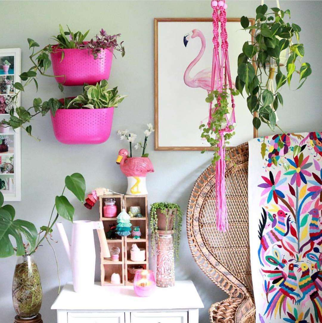 tropical inspired room decor