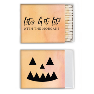 ForYourParty's elegant Watercolor Sunrise Cigar Matchbox with Matte Black Foil will look fabulous with your unique touch. Your guests will agree!