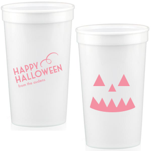 Our beautiful custom White 16 oz Stadium Cup with Matte Rouge Ink Cup Ink Colors will look fabulous with your unique touch. Your guests will agree!