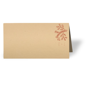 Our personalized Natural Sand Classic Place Card with Satin Copper Penny Foil Color has a Marigold Flourish graphic and is good for use in Accents themed parties and will look fabulous with your unique touch. Your guests will agree!