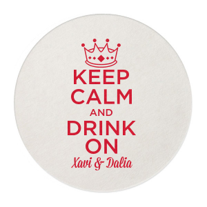 Keep Calm Crown Coaster