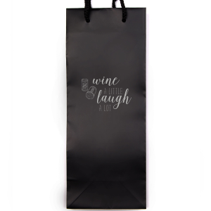 Our custom Metallic Silver Wine Gift Bag with Shiny Turquoise Foil Color has a Double Cork graphic and is good for use in Wine and Drink themed parties and will impress guests like no other. Make this party unforgettable.