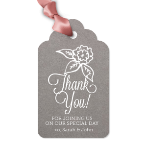 Thank You Flowers Tag
